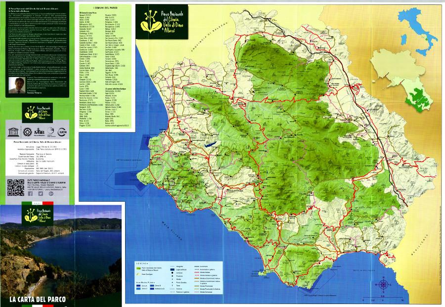 Cilento Cartina Geografica.Sentieri Del Parco Nazionale Del Cilento Vallo Di Diano E Alburni